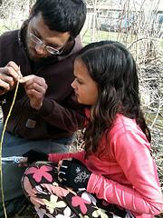 Bill showing Ryan grafting techniques